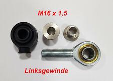 1x M16x1,5 links Dichtkappe DR16/12 Uniball Gelenkkopf Außengewinde Kugelgelenk