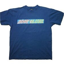 Vintage Body Glove Spell Out Blue Mens T-shirt USA Double Sided Beach Surf M