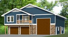 44x48 Apartment with 2-Car 1-RV Garage - PDF FloorPlan - 1,645 sqft - Model 5P