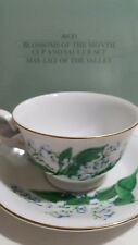 AVON Blossom of the month cup and saucer set May lily of the valley new Gift