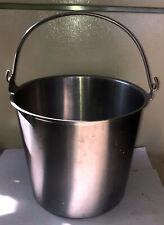 Stainless Steel Vollrath Milk Bucket Pail 13 Quart Size