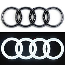 LED EMBLEM AUDI A3 A4 A5 A6 LIGHT FRONT GRILL LOGO BADGE RINGS BLACK EDITION