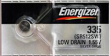 2PC Energizer 335 Silver Oxide Watch Battery