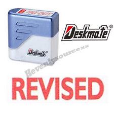 { REVISED } Deskmate Red Pre-Inked Self-Inking Rubber Stamp #KE-R06