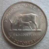 UGANDA 5 Shillings 1968 UNC FAO Ewe /& Kid