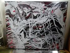 CANVAS Authentic Hand Painting BY MUSK YAI 16x20 ABSTRACT Graffiti Sothebys