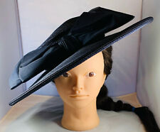 VINTAGE LORD & TAYLOR WIDE BRIM WOMEN'S HAT WITH BOW