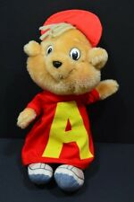 Vintage 1980s Alvin and the Chipmunks Plush Stuffed Animal CBS Alvin 10""