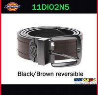 Dickies Mens 38mm Reversible Jean Belt, 11DI02N5 BLACK / BROWN Buckle Size 32-44