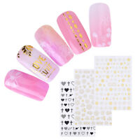 Nail Art Sticker Heart Flower Bow Tie Texture 3D Nail Decals Adhesive