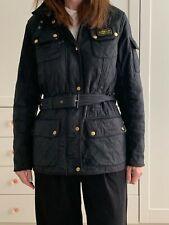 Lightweight black Barbour Jacket in Black, size 14