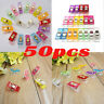 50Pcs Sewing Clips Universal Clothes Pins Pegs Hanging Photo Clips Wrapping Clip
