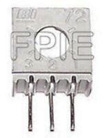 "Lot of 2 3386W-1-500 500 Ohm 3/8"" Cermet Potentiometer Beckman Industries"