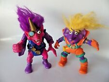 lot Figurines TROLL WARRIORS by TYCO Fanta the Rascal & wizard 1992 applause
