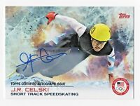 2014 Topps USA Olympic Team Autograph #14 J. R. Celski Short Track Speedskating