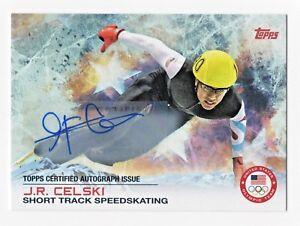 2014 Topps USA Olympic Team Authentic Autograph J. R. Celski Speedskating