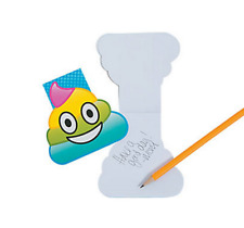 Pack of 12 - Emoji Rainbow Poop Notepads - Party Bags Favours Fillers