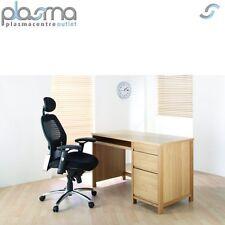 Alphason Hunter Oak Desk with Large Drawers and Sliding Keyboard Shelf