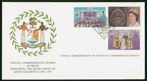Mayfairstamps Belize 1977 Queen Silver Jubilee Combo Cover wwp_65253