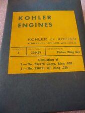 KOHLER ENGINES 230469 PISTON RINGS SET .020