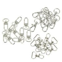 30pcs Swivel Clips Snap Hook Trigger Lobster Bag Lanyard Clasps Finding