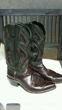 DAN POST WESTERN BOOTS LEATHER BLACK SZ 9.5 EW EXC!