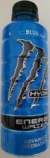 NEW MONSTER HYDRO ENERGY WATER BLUE ICE DRINK 20 FL OZ FULL BOTTLE FREE SHIPPING