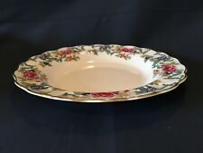 "Booths ""Floradora"" Large Shallow 8.25"" x 1.25"" Rimmed Soup Bowl"
