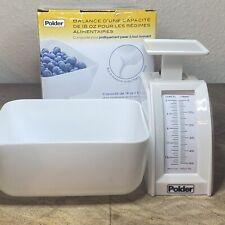 Polder 18 Oz Home Kitchen Diet Scale In Box Food Scale Kitchenware Nutrition