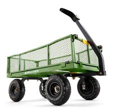 Gorilla carros de 1,200 lb Acero Dump Cart Vagón Jardín Patio Resistente Césped Nuevo