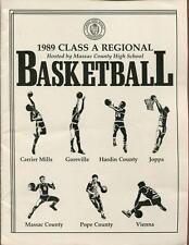 High School Basketball Program Illinois 1989 Tournament Boys AA