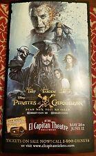 Disney Pirate's of the Caribbean Dead men Movie Brochure mini Poster El Capitan