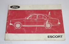 Betriebsanleitung Handbuch Ford Escort ´68 Mk. I / Mark 1 Stand 01/1973
