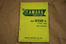 1976 Yamaha RS125 DX Parts Catalogue
