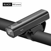ROCKBROS Bike Light Head Front Light USB Rechargeable LED 400Lumens Black Light