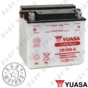 BATTERIA YUASA YB16B-A SUZUKI VS GL INTRUDER 600 1995>1997