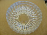 Gorham Crystal Cut Round Bowl W.Germany Clear vtg Heavy