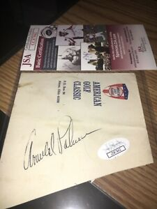 Arnold Palmer Signed cut  Card JSA