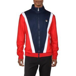 Fila Mens Grosso Navy Fitness Activewear Track Jacket Athletic L BHFO 3916