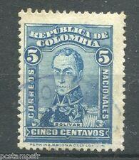 COLOMBIE - COLOMBIA 1917, timbre 214, BOLIVAR, oblitéré