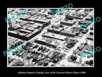OLD LARGE HISTORIC PHOTO OSHAWA ONTARIO CANADA, GENERAL MOTORS PLANT c1960
