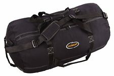 """Outback Mens Heavy-Duty X-LARGE Canvas Black Duffle Bag Travel Luggage 36"""" x 20"""""""
