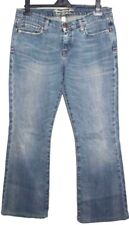 ABERCROMBIE & FITCH Womans Flared Stretch Blue Jeans uk 8 ( 32 Waist, Leg 30)