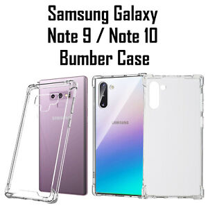 Samsung Galaxy Note 9 Note 10 Shockproof Bumper Silicone Gel Clear Case Cover