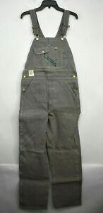 Vintage NOS Key Imperial 100% Cotton Keyweave Denim Mens Striped Bib Overalls