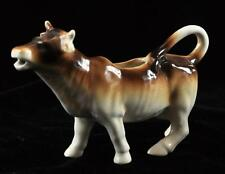 Cow Creamer Holder Ceramic W/ Dark Brown Fade to White Coloring 4""