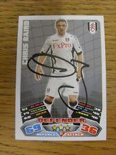 "2011/2012 AUTOGRAFO: Fulham-Baird, Chris [firmato a mano ""TOPPS MATCH ATTAX"" trad"