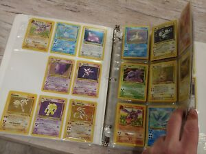Complete Fossil set full Pokemon Card Collection Lot Wotc missing 1 card Binder