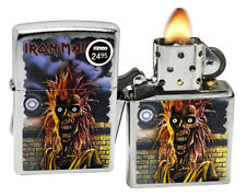 Zippo 29433 Iron Maiden Eddie Street Chrome Finish Color Image Windproof Lighter