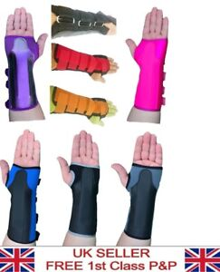 2 x Neoprene Wrist Support Brace Splint Carpal Tunnel Sprain Strain Arthritis
